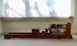 WaterRower Oxbridge Rowing Machine with S4 Performance and Heart Rate Monitors