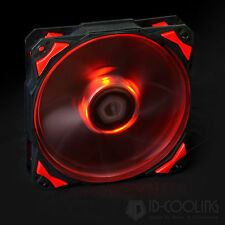 Red LED 120mm PWM Fan With De-vibration Rubber 60CFM Low noise & Big Airflow