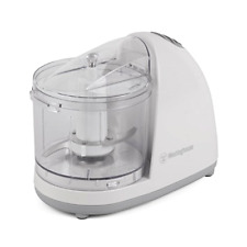 Electric Food Chopper One Touch 1 1/2 Cup White Non Skid Base Diswasher Safe