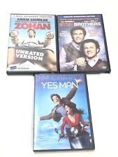 Lot Of 3 DVDs You Don't Mess With The Zohan-Yes Man-Step Brothers Comedy Movies