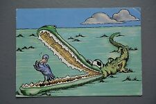 R&L Postcard: Modern, Jambo Kenya Save Our Wildlife Alligator Crocodile