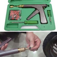 Car Motorcycle Tire Plugger Tubeless Tire Wheel Repair Gun Kit With Rubber Plugs