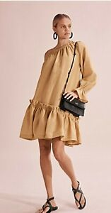 BNWT COUNTRY ROAD Frill Dress, size 10 S womens | Cinnamon Mini Dress RRP$179
