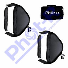 "PhotR 2x 60cm/24"" Folding Softbox Diffuser Photo Studio Hotshoe Flash Speedlight"