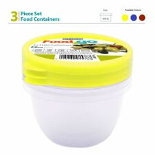 3x 400ml Small BPA Free Round Food Container Snack Nut Fruit Portion Storage Box