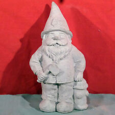 """New listing Lot of 4 Gnome Fireman Near Fire Hydrant Holding Axe Concrete Garden Statue 9"""""""