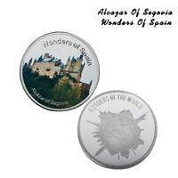 Moneda de plata conmemorativa del Alcázar de Segovia de España para la colección
