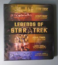 STAR TREK LEGENDS OF STAR TREK TRADING CARDS LIMITED NUMBERED CARDS & BINDER (2)