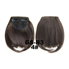 1 Piece Clip On Front Bang Fringe Long Side Hair Extension Hairpiece Women Party