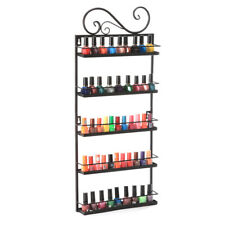 5 Tier Nail Polish Wall Mount Rack Organizer Display Metal up to 50+ Bottles