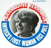 1984 GERALDINE FERRARO VICE PRESIDENTIAL campaign pin pinback button political