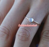 Natural Moonstone 925 Sterling Silver Ring Jewelry Handmade Ring All Size c-03