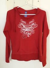 Wisconsin Badger Red Ncaa Knit Hoodie Size Medium