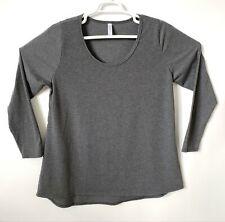LuLaRoe Lynnae T Shirt Size 2XL Gray Long Sleeve HiLo Hem Top Stretch Blouse