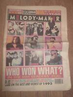 MELODY MAKER MAGAZINE / NEWSPAPER JANUARY 8 1994 MILES HUNT CARTER USM EAST 17
