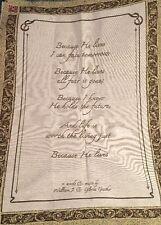 MYO Tapestry Panel wall hanging Bill & Gloria Gaither Because He Lives lyrics