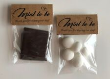 25 Personalised Wedding Rustic Brown Kraft Favour Chocolates Sweets Mint To Be