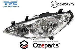 LH LHS Left Hand Head Light Lamp 9 Pin With Fog For Peugeot 307 Series T5 01~05