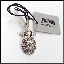 NEW PILGRIM DENMARK SILVER PLATED PENDANT WITH AB CRYSTALS HANDMADE - vintage