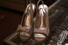 Lulu Townsend gray glittery synthetic pumps (3in&up) size 9.5 M