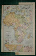1905 antiguo mapa ~ Africa ~ Delta del Nilo Islas Canarias Egipto Argelia