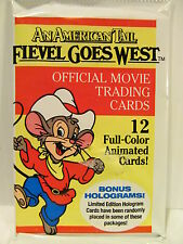 9 PACKS FIEVEL GOES WEST UNOPENED TRADING CARDS 1993
