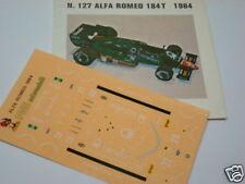 ALFA ROMEO 184T F1 1984 DECALS 1/43 FDS AUTOMODELLI