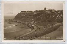 (w14r68-354) Real Photo of Tennis Courts & Castle, SCARBOROUGH 1950 Used G-VG