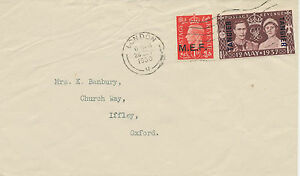 "M.E.F. / MOROCCO AGENCIES 1950 Coronation 1 ½ D overprinted ""TANGIER"" LATE USAGE"