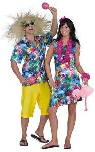 Hawaii Hemd Herren Kleid Kostüm Party Rock Kette Sexy Shorts Hut Tasche Südsee