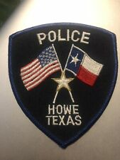 Texas Police - Howe  Police   TX  Police  Patch