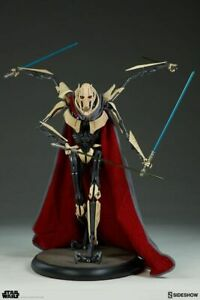 GENERAL GRIEVOUS EXCLUSIVE WITH CAPE PREMIUM FORMAT STATUE SIDESHOW STAR WARS-