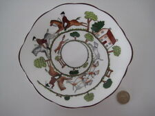 COALPORT HOUNDS AND FOX HUNTING SCENE SHALLOW SWEET CANDY DISH SMALL EARED PLATE