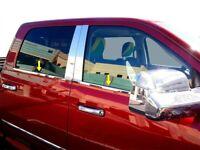 fit:2004-2008 Dodge Ram Quad Cab Window Sill Trim Stainless Steel  4PC