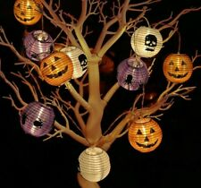 10 LED Pumpkin Lights Halloween Decoration 3D Halloween Lantern Outdoor Hanging