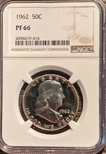 NGC PFS66 1962 Franklin Half Dollar Proof 90% SILVER Collectors Grade