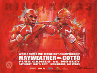 MAYWEATHER vs COTTO Official Onsite fight poster by Richard T. Slone 18 X 24