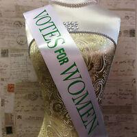 VOTES FOR WOMEN SUFFRAGETTE SASH - Cheap Emmeline Pankhurst Fancy Dress Costume