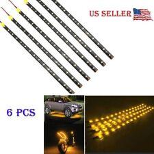 "6 PCS Yellow 12V 12"" Flexible LED Strip Light Waterproof IP68 For Car Truck Boat"