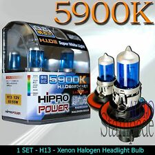HIPRO POWER H13 9008 5900K SUPER WHITE DUAL BEAM XENON HALOGEN HEADLIGHT BULBS