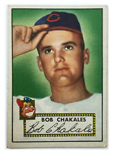 1952 Topps Baseball Card • Bob Chakales • #120