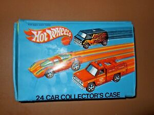 Hot Wheels 24 Car Collector's Case Mattel Vintage 1975 8227 Blue 2 YELLOW Trays