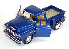 Sammlermodell 1955 Chevrolet 3100 Pick-Up 1:32 Stepside blau KINSMART Neuware
