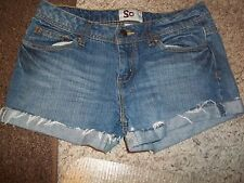 SO JUNIOR'S SIZE 7 DENIM MINI SHORTS SHORT SHORTS BLUE JEAN SHORTS CUT-OFF JEAN