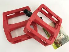 ODYSSEY BMX GRANDSTAND PLASTIC  PEDALS - RED - BMX BIKE - TOM DUGAN