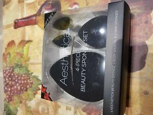 Aesthetica 4 Piece Beauty Sponge Blender Set - Includes Original Beauty Sponge,