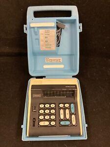 VINTAGE RARE PANASONIC JE805A LED ELECTRONIC CALCULATOR W CASE & INSTRUCTIONS