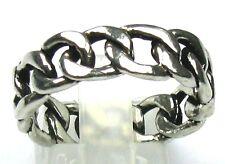 Ketten-Ring massiv 925er Silber. 61/19,4 mm