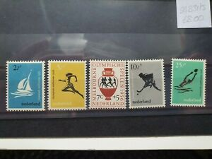 Netherlands 1956 16th Olympic Games, Melbourne set of 5, hinged mint