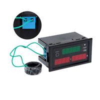 New AC 80-300V LCD Digital 100A Volt Power Kwh Amp Panel Meter Voltmeter Ammeter